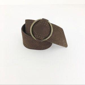 Lauren Ralph Lauren leather wide belt boho studded